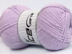 Lot of 4 x 100gr Skeins Ice Yarns BAMBOO SOFT FINE (50% Bamboo) Yarn Baby Lilac