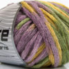 Lot of 4 x 100gr Skeins Ice Yarns PAINT BALL (50% Wool) Yarn Lilac Yellow Green