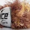 Lot of 8 Skeins Ice Yarns LONG EYELASH COLORFUL Hand Knitting Yarn Brown Gold