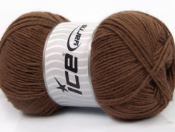 Lot of 4 x 100gr Skeins Ice Yarns ELITE WOOL (30% Wool) Yarn Brown