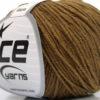 Lot of 8 Skeins Ice Yarns ALARA (50% Cotton) Hand Knitting Yarn Light Brown