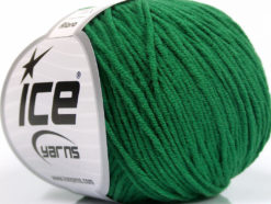 Lot of 8 Skeins Ice Yarns ALARA (50% Cotton) Hand Knitting Yarn Green