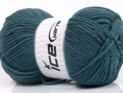 Lot of 4 x 100gr Skeins Ice Yarns Worsted FAVORITE Hand Knitting Yarn Teal