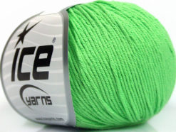 Lot of 4 Skeins Ice Yarns ORGANIC BABY COTTON (100% Organic Cotton) Yarn Light Green