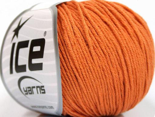 Lot of 4 Skeins Ice Yarns ORGANIC BABY COTTON (100% Organic Cotton) Yarn Orange