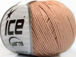 Lot of 4 Skeins Ice Yarns ORGANIC BABY COTTON (100% Organic Cotton) Yarn Powder Pink