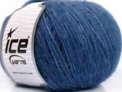 Lot of 8 Skeins Ice Yarns ALPACA SOFTAIR (25% Alpaca 15% Superwash Merino Wool) Yarn Blue