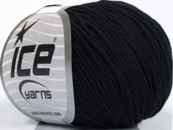 Lot of 4 Skeins Ice Yarns ORGANIC BABY COTTON (100% Organic Cotton) Yarn Black