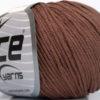 Lot of 4 Skeins Ice Yarns ORGANIC BABY COTTON (100% Organic Cotton) Yarn Rose Brown
