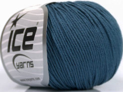 Lot of 4 Skeins Ice Yarns ORGANIC BABY COTTON (100% Organic Cotton) Yarn Indigo Blue
