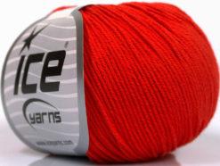 Lot of 4 Skeins Ice Yarns ORGANIC BABY COTTON (100% Organic Cotton) Yarn Red