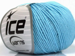 Lot of 4 Skeins Ice Yarns ORGANIC BABY COTTON (100% Organic Cotton) Yarn Baby Blue
