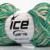 Lot of 8 Skeins Ice Yarns VISCOSE SHINE BULKY (82% Viscose) Yarn Emerald Green Beige