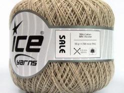 Lot of 6 Skeins Ice Yarns SALE SUMMER (70% Cotton 30% Viscose) Yarn Beige