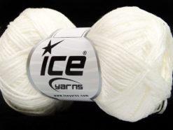 Lot of 8 Skeins Ice Yarns FETTUCCIA FINE Hand Knitting Yarn White