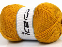 Lot of 4 x 100gr Skeins Ice Yarns MERINO GOLD (60% Merino Wool) Yarn Dark Gold