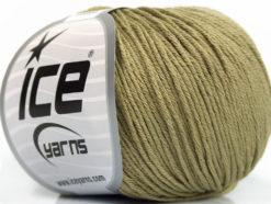 Lot of 4 Skeins Ice Yarns ORGANIC BABY COTTON (100% Organic Cotton) Yarn Light Khaki