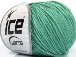 Lot of 4 Skeins Ice Yarns ORGANIC BABY COTTON (100% Organic Cotton) Yarn Emerald Green
