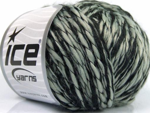 Lot of 8 Skeins Ice Yarns FLAMME DUO Hand Knitting Yarn Black Grey