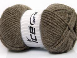 Lot of 4 x 100gr Skeins Ice Yarns Bulky ATLAS Hand Knitting Yarn Brown