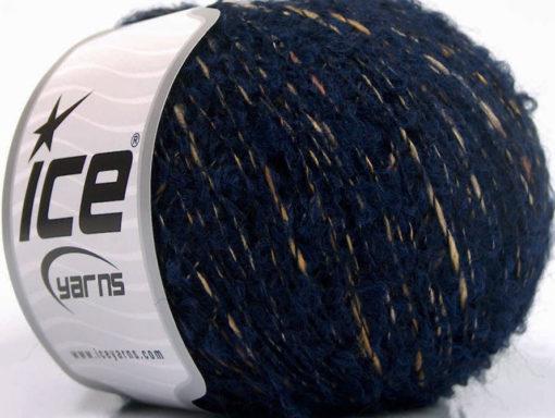 Lot of 8 Skeins Ice Yarns BOLOGNA LANA (25% Wool 48% Cotton) Yarn Navy Cream Camel