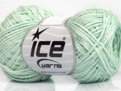 Lot of 8 Skeins Ice Yarns FETTUCCIA FINE Hand Knitting Yarn Light MintGreen