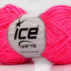 Lot of 8 Skeins Ice Yarns FETTUCCIA FINE Hand Knitting Yarn Neon Pink