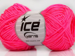 Lot of 8 Skeins Ice Yarns FETTUCCIA FINE Hand Knitting Yarn Neon Pink