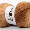 Lot of 4 x 100gr Skeins Ice Yarns MAGIC GLITZ Hand Knitting Yarn Brown Shades