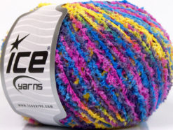 Lot of 8 Skeins Ice Yarns PUFFY FINE Yarn Purple Blue Pink Yellow