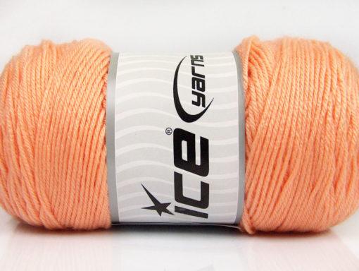 Lot of 2 x 200gr Skeins Ice Yarns SAVER Hand Knitting Yarn Light Orange