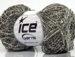 Lot of 8 Skeins Ice Yarns PEPERONCINO (62% Cotton 23% Viscose) Yarn Cream Black