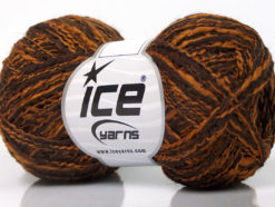 Lot of 8 Skeins Ice Yarns DOPPIO LANA (44% Wool) Yarn Brown Copper