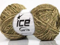 Lot of 8 Skeins Ice Yarns DOPPIO LANA (44% Wool) Yarn Light Khaki Beige