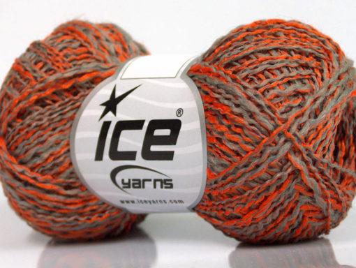 Lot of 8 Skeins Ice Yarns DOPPIO LANA (44% Wool) Yarn Orange Light Grey