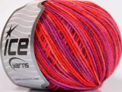 Lot of 8 Skeins Ice Yarns WOOL DK COLOR (50% Wool) Yarn Pink Salmon Purple