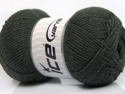 Lot of 3 x 100gr Skeins Ice Yarns BABY COMFORT Hand Knitting Yarn Dark Grey