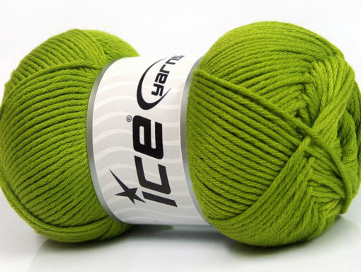 Lot of 3 x 100gr Skeins Ice Yarns BABY COMFORT Hand Knitting Yarn Green