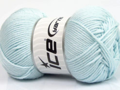 Lot of 3 x 100gr Skeins Ice Yarns BABY COMFORT Hand Knitting Yarn Light Blue