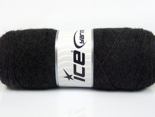 Lot of 4 x 100gr Skeins Ice Yarns BONITO (50% Wool) Yarn Anthracite Black