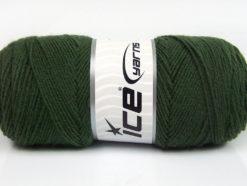 Lot of 4 x 100gr Skeins Ice Yarns BONITO (50% Wool) Hand Knitting Yarn Khaki