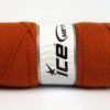 Lot of 4 x 100gr Skeins Ice Yarns BONITO (50% Wool) Yarn Dark Orange