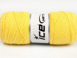 Lot of 4 x 100gr Skeins Ice Yarns BONITO (50% Wool) Hand Knitting Yarn Yellow