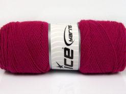 Lot of 4 x 100gr Skeins Ice Yarns BONITO (50% Wool) Yarn Dark Fuchsia