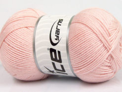 Lot of 3 x 100gr Skeins Ice Yarns BABY COMFORT Hand Knitting Yarn Light Pink