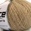 Lot of 8 Skeins Ice Yarns WOOL CORD SPORT (50% Wool) Yarn Light Camel