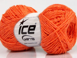 Lot of 8 Skeins Ice Yarns NATURAL COTTON FINE (100% Cotton) Yarn Orange