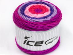 Lot of 2 x 200gr Skeins Ice Yarns CAKES ARAN Yarn Pink Lilac Shades Salmon