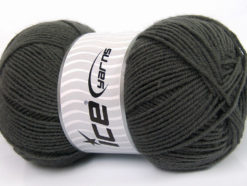 Lot of 4 x 100gr Skeins Ice Yarns ELITE WOOL (30% Wool) Yarn Dark Grey