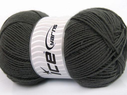 Lot of 4 x 100gr Skeins Ice Yarns ELITE WOOL (30% Wool) Yarn Dark Grey